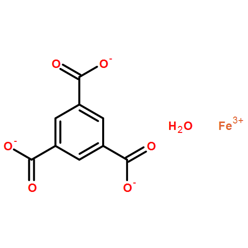 MOF&Iron(III) 1,3,5-benzenetricarboxylate hydrate, porous (F-free MIL-100(Fe), KRICT F100) [Iron trimesate]